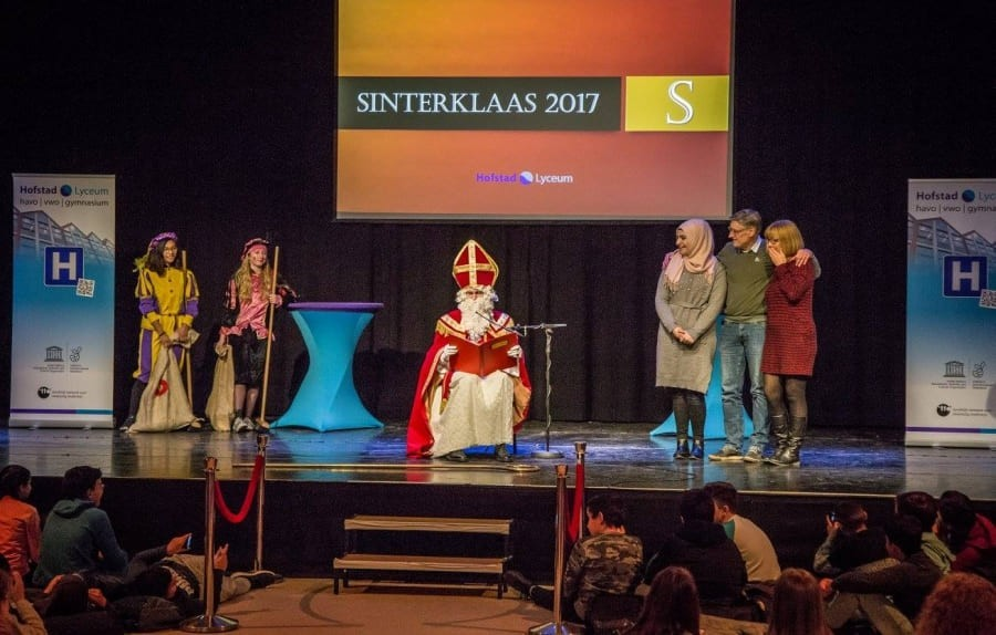 Sinterklaas in actie
